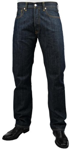 Levi's Jeans straight da uomo 501, vestibilità originale Blu (Scprpio). 36W x 34L