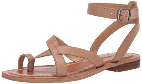 Lucky Brand Women's AVONNA Flat Sandal, Stone, 7
