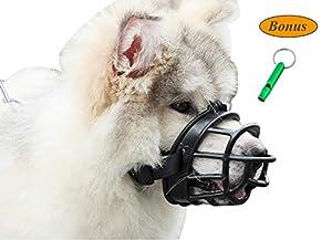 JeonbiuPet Pet muselières, Bouche de Chien Couverture Souple Silicone Respirant réglable Chien Panier museau pour Formation Mordant Qui aboyait à chiquer haletant