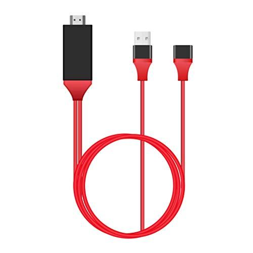 KLOVA Adaptador convertidor, 1080P HDMI-Compatible Mirroring Cable Teléfono a TV Adaptador HDTV para iPhone iPad