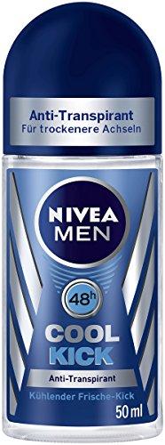 Nivea Men Cool Kick Deo-Roller, Anti-Transpirant-Schutz, 6er Pack (6 x 50 ml)