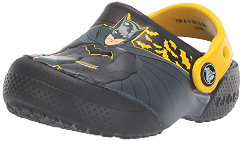 Crocs Unisex-Kinder Crocsfl Iconic Batman K Clogs, Schwarz (Black 001), 27/28 EU