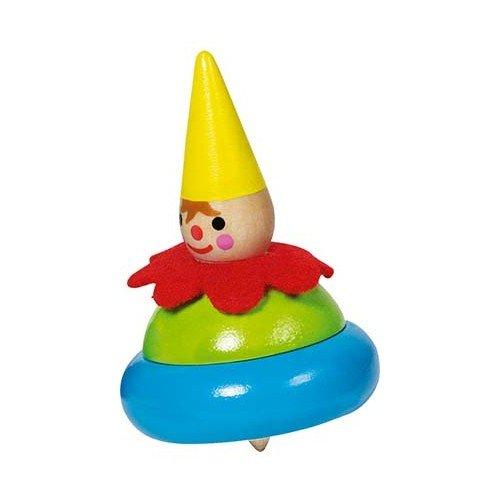 Toupie clown goki rouge