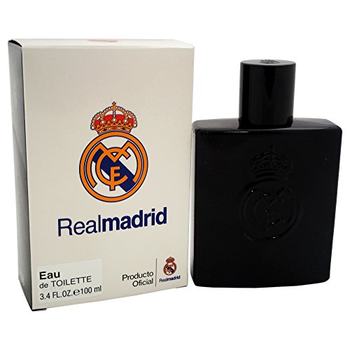 Real Madrid Black EDT Spray for Men by Air Val International, white (7312), 3.4 Fl Oz