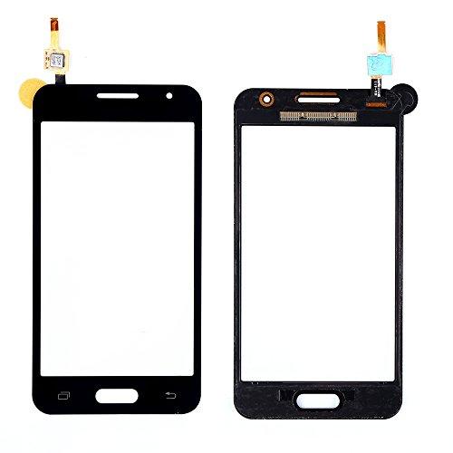 WeDone Kompatibel mit Samsung Galaxy Core 2 Duos SM-G355H G355 Display Touchscreen Digitizer Glas(Ohne LCD) Ersatzteile + Klebeband & Werkzeuge (schwarz)