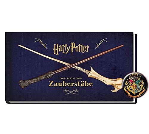 Harry Potter El libro de varitas mágicas (edición encuadernada) + 1 botón original de Harry Potter