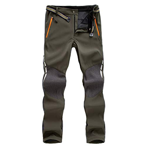 7VSTOHS Pantaloni Outdoor da Uomo Pantaloni da Trekking Impermeabile Antivento Traspirante Caldo Pantaloni da Caccia Pantaloni Invernali da Viaggio
