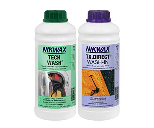 Nikwax TECH WASH/TX Direct CLEAN & Proof Twin Pack (1 Litre)