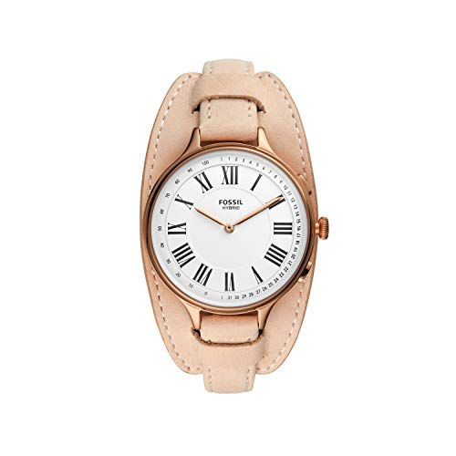 Fossil Women's Eleanor Stainless Steel Hybrid Smartwatch, Color: Blush (Model: FTW5077)