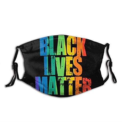 Black Lives Matter - Protector facial lavable para adulto con diadema ajustable para unisex