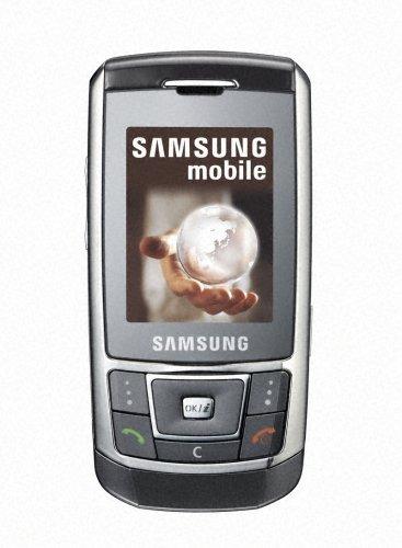 Samsung SGH-D900e Handy (3,2 MP Kamera, MP3-Player, Radio, Bluetooth) metallic Silber