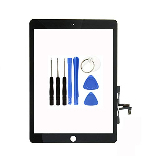 Kakusiga Compatible with 2017 iPad 9.7(A1822, A1823)/ iPad Air 1st Touch Screen Digitizer Replacement with Tools PreInstalled Adhesive(Without Home Button) Black