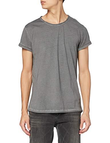 Tigha Herren Milo T-Shirt, Grau (Vintage Grey 703), (Herstellergröße: S)