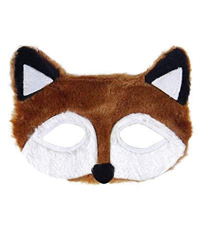 Pelzig Fantastic Mr Braun Fox Augenmaske Jungen Mädchen Unisex Kostüm Zubehör