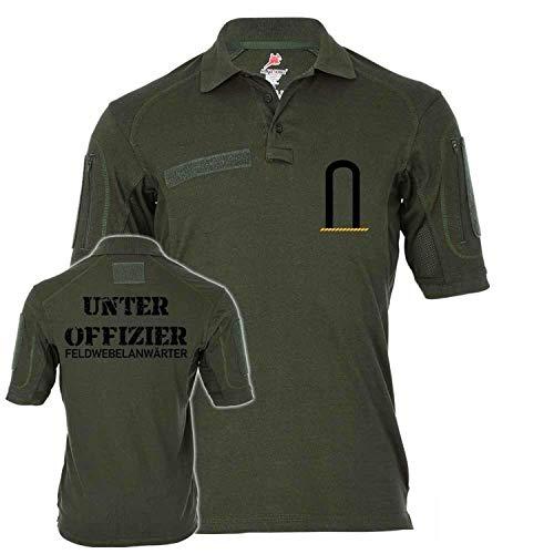 Copytec Tactical Poloshirt Alfa Unteroffizier FA Dienstgrad BW Abzeichen Offizier Truppendienst Bundeswehr #19103, Größe:M, Farbe:Oliv