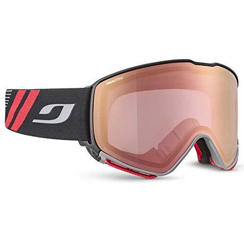 Julbo QUICKSHIFT OTG Gafas de esquí, Unisex Adulto, Negro y Rojo, Extra-Large