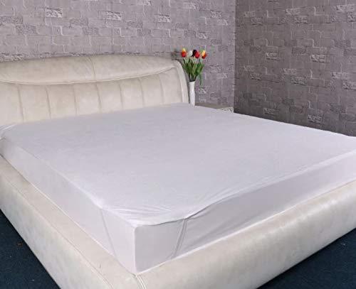 Funda elástica de rizo para colchón individual, doble, king y super king (152 x 200 cm)