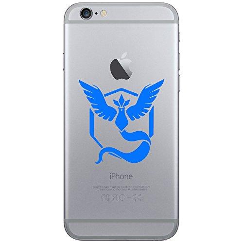 Pokemon Go–Team Mystic Handy Laptop Tablet Auto iPhone 44S 55C 5S 6Galaxy S4S5S6, Android Vinyl Fenster Glas Wände Bumper Aufkleber Aufkleber (blau)