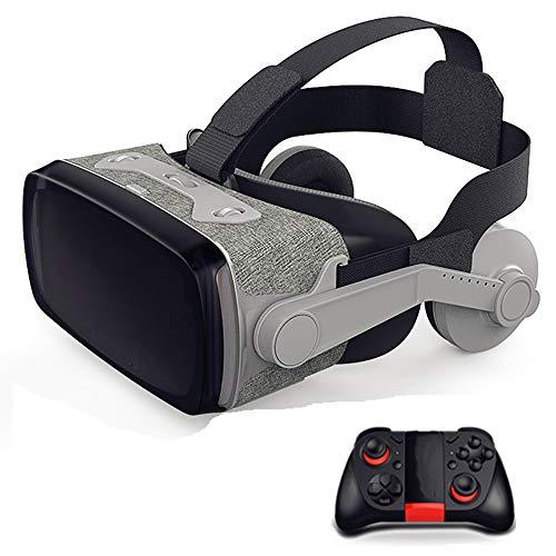 Zks VR Headset, 3D Fesselnde VR Headset Stereo Weich Und Bequem Beruf Virtuelle Realität Brille Kompatibel Für 6-Zoll-Ios Und Android