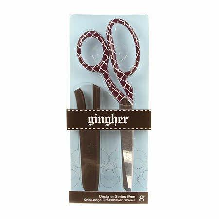 Fun Geometric Quatrefoil Purple Print Gingher 8 inch Dressmaking Shears Scissors ~ Wren Print ~ Limited Edition ~ Fun, Funky & Groovy all in one!