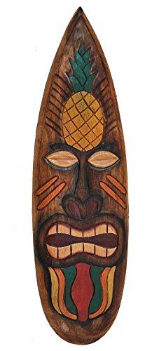 Tiki Surfboard 60cm Deko für Ihren Lounge Bereich Surfbrett Tiki Südsee Holzschild