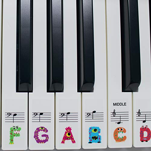 Piano Stickers for 49/61 key keyboard, Transparent, Ultra Thin to the...