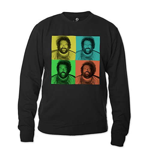 Bud Spencer Herren B.Joe Fotoautomat Sweatshirt (schwarz) (XXL)