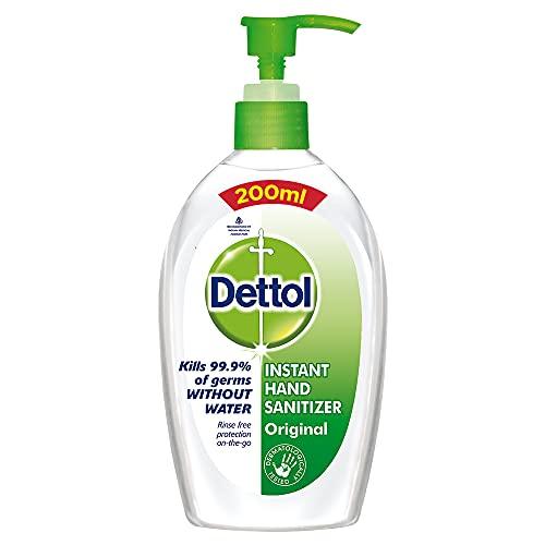 Dettol Original Germ Protection Alcohol based Hand Sanitizer Pump, 200ml