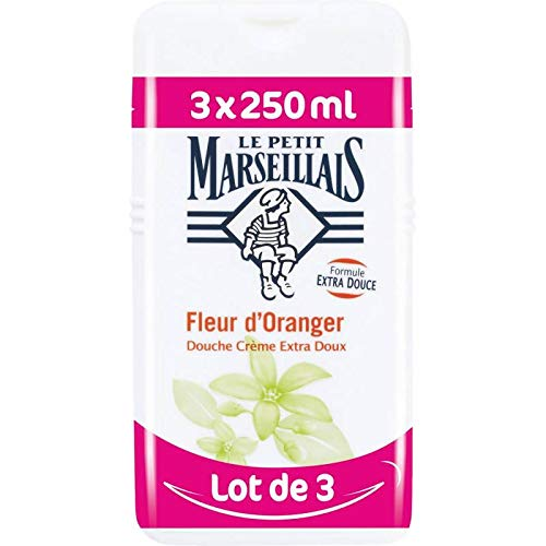LE PETIT MARSEILLAIS - GEL DOUCHE - Fleur d'Oranger - Lot de 3x 250ml