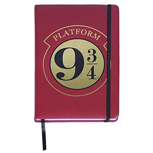 Harry Potter Cuaderno, Libreta A5, Diario, Bloc de Notas con Tapa Dura y Cierre Elástico, Regalo de Harry Potter