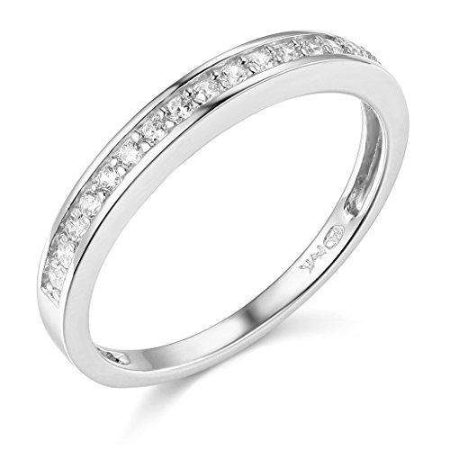 The World Jewelry Center .925 Sterling Silver Rhodium Plated Wedding Band - Size 7.5