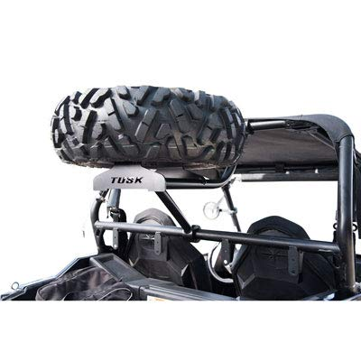 TUSK UTV Heavy Duty Spare Tire Carrier - Polaris RZR 900 Trail, 900 XC, 900 S - 2015-2019 - Includes Lug Nuts