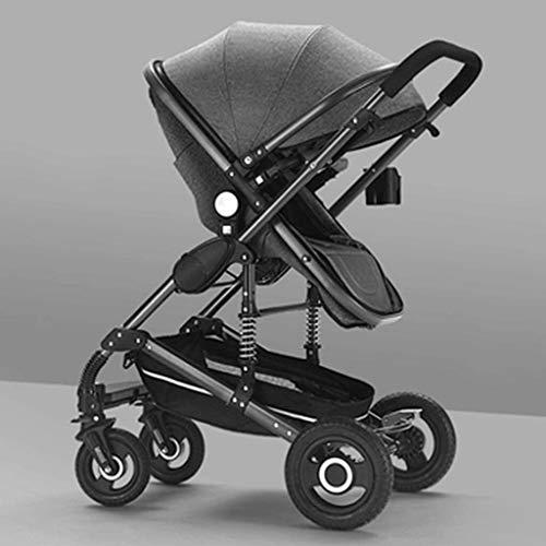 BESTPRVA Portátil cochecito de bebé del carro de bebé del cochecito del cochecito de bebé, extra grande de almacenamiento, la construcción durable y Diseño plegable compacto, de color caqui antichoque