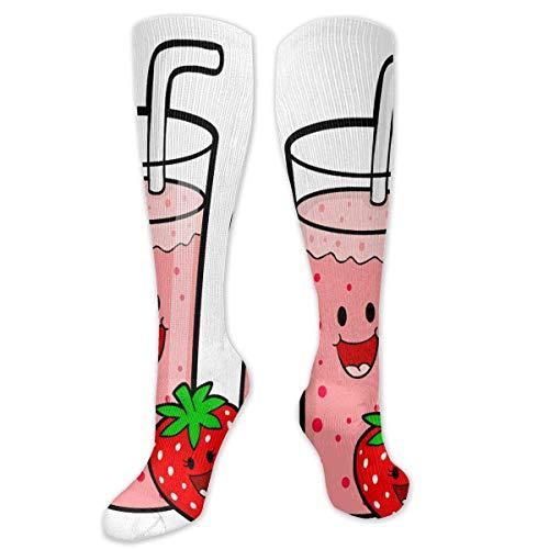 NA Calcetines elásticos Calor de invierno personalizado de dibujos animados de alimentos saludables para viajes de mujeres y hombres