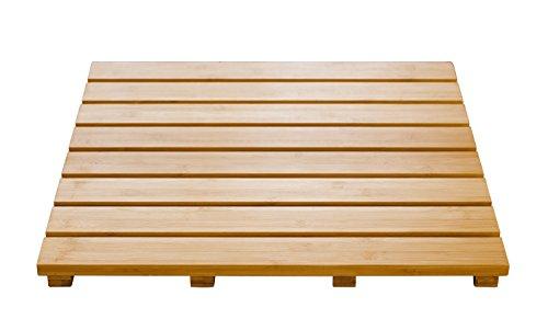 Ridder 21105211 - Pedana in legno da bagno 'Grating', circa 52 x 52 cm, colore: Beige