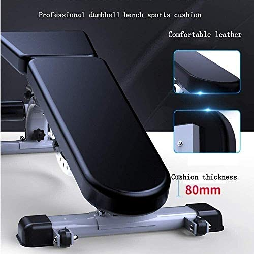 Product Image 3: ZYLHC Weight Bench Adjustable Strength Training Bench, Sit-Up Board, Abdominal Muscle Trainer, Mediate Commercial Professional Bench Press Bench Multi Functional Sit Ups Fitness Equipment