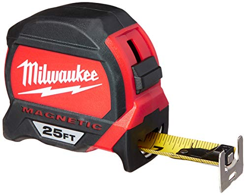 Milwaukee Tool 48-22-7125 Magnetic Tape Measure 25 ft x 1.83 Inch