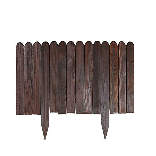 WCY Picket Fence-Garten-Dekoration Pflanzenschutzraum Trennung Hochtemperatur-Verkokung Holz Plug-in Zaun, 8 Größen (Farbe: Braun, Größe: 100x60cm) yqaae (Color : Brown, Size : 100X90CM)