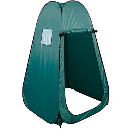 COSTWAY Pop-up Duschzelt Toilettenzelt Umkleidezelt Beistellzelt Lagerzelt Campingzelt Trekkingzelt Strand Zelt mit Fenster 190x120x120cm(Grün)