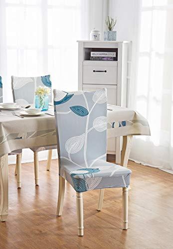 Fundas para Sillas de Comedor Pájaro Azul Fundas para sillas Flexible y FÁCil de Limpiar,Comedor Fundas elásticas Cubiertas para Sillas para el Hogar, Restaurante, Bar, Etc(8 Piezas)