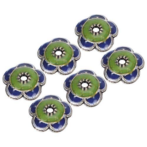 20 piezas flor pulsera cuentas joyería de metal joven artesanía DIY accesorio único delicado presente compacto ensamblar cuentas redondas exquisitas