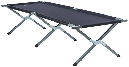 Yellowstone Aluminium Folding Camp Bed - Black
