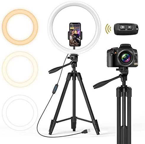 TONOR 12 inch Selfie Ring Light with Tripod Stand Smartphone Holder Bluetooth Remote Shutter product image