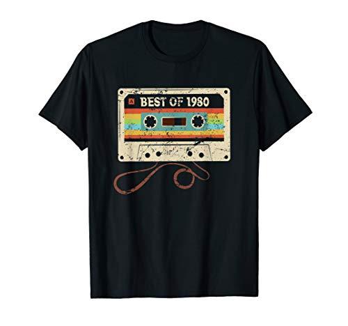 Best Of 1980 Vintage 40. Geburtstag 40 Jahre Damen Herren T-Shirt
