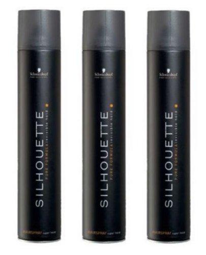 3 x Schwarzkopf Silhouette Super Hold Haarspray 750 ml.