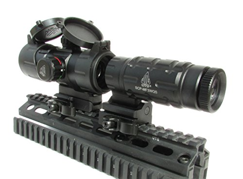 UTG Leapers Red T-Dot Sight and 3 x Flip to Side Magnifier Combo