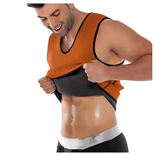 WEIWEIKIO Chaleco para Hombre para Perder Peso Corsé Caliente Entrenador en la Cintura Camisa para Adelgazar Entrenamiento