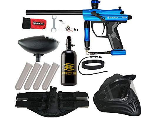Action Village Kingman Spyder Fenix Legendary Paintball Gun Package Kit (Gloss Blue)