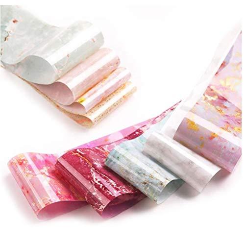 KENANLAN Nail Art Decals, Marmor Nagelfolie Transfer Aufkleber Acryl DIY Nageldekoration Nail Art Folien Nagelzubehör für Frauen
