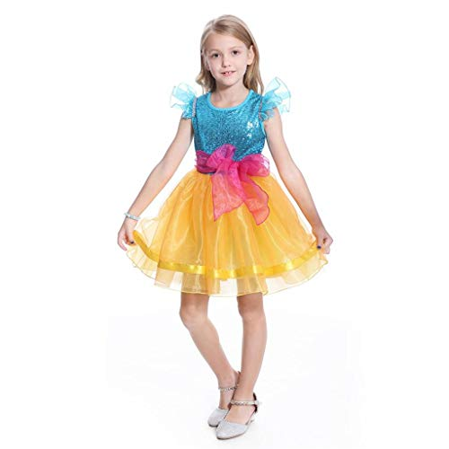Lito Angels Disfraz de Nancy para nias pequeas, disfraz de Halloween, para fiesta de cumpleaos, de 5 a 6 aos, color azul